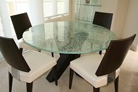 Custom Made Glass Tabletops